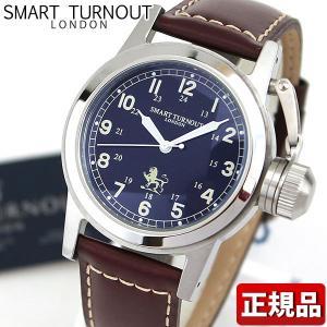 SMART TURNOUT スマートターンアウト ST-003NV 9814059 メンズ 男性用 腕時計 レザー 革バンド ダークブラウン ネイビー|tokeiten