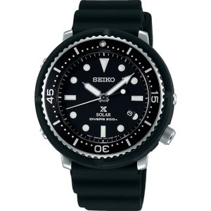 ノベルティ付 PROSPEX プロスペックス TUNA-CAN ツナ缶  SEIKO ソーラー STBR007 LOWERCASE 限定モデル メンズ 腕時計 国内正規品 黒 ブラック シリコン|tokeiten|02