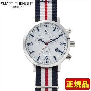 ポイント最大26倍 SMART TURNOUT スマートターンアウト 9814003 STC2-YH18 メンズ 男性用 腕時計 白 ホワイト 赤 レッド 青 ネイビー ナイロン バンド|tokeiten