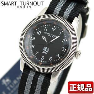 22日から最大42倍 SMART TURNOUT スマートターンアウト 9814007 STJ-002BK-NATO18 メンズ 男性用 腕時計 黒 ブラック ナイロン tokeiten