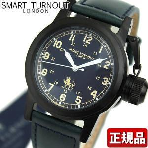 ポイント最大26倍 交換ベルト付き SMART TURNOUT スマートターンアウト 9814013 STJ-003BKNV RN20 メンズ 男性用 腕時計 青 ネイビー 革バンド レザー|tokeiten