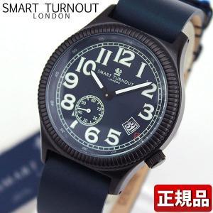 ポイント最大26倍 交換ベルト付き SMART TURNOUT スマートターンアウト 9814015 STJ007BKNV-RO20 メンズ 男性用 腕時計 青 ネイビー 革バンド レザー|tokeiten