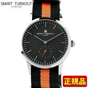 ポイント最大26倍 SMART TURNOUT スマートターンアウト 9814042 STK3-BK SS PRIN20 メンズ 男性用 腕時計 黒 ブラック オレンジ ナイロン バンド|tokeiten