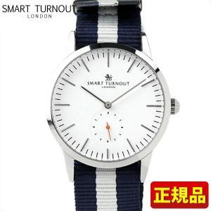 ポイント最大26倍 SMART TURNOUT スマートターンアウト 9814043 STK3-WH SS YALE20 メンズ 男性用 腕時計 白 ホワイト 青 ネイビー ナイロン バンド tokeiten