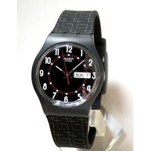 Swatch スウォッチ ブラック 腕時計 時計 SUJM704|tokeiten