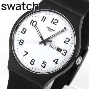 SWATCH スウォッチ SUOB705 TWICE AGAIN トゥワイス・アゲイン ユニセックス メンズ レディース 腕時計 ブラック ホワイト 黒 白|tokeiten