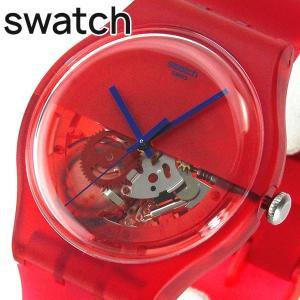 SWATCH スウォッチ SUOR103 DIPRED ディップレッド メンズ レディース 腕時計 レッド 赤|tokeiten