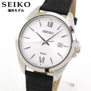 SEIKO セイコー 逆輸入 SUR283P1 アナログ メンズ 腕時計 海外モデル 黒 ブラック 銀 シルバー 革ベルト レザー|tokeiten