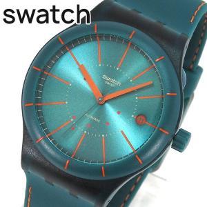SWATCH スウォッチ SUTG400 SISTEM GREEN システム・グリーン レディース メンズ ユニセックス 腕時計 自動巻き グリーン オレンジ|tokeiten