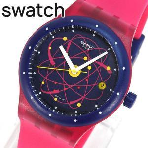 SWATCH スウォッチ SUTR401 SISTEM PINK システム・ピンク レディース メンズ ユニセックス 腕時計 自動巻き ピンク ブルー 青|tokeiten
