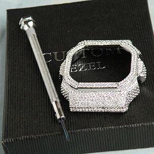 DW5600専用 カスタムカバー ORIGIN パーツ単品 シルバーベゼル|tokeiten