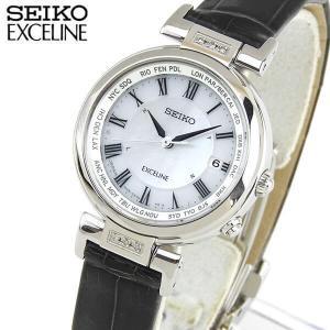 レビュー7年保証 SEIKO セイコー DOLCE & EXCELINE ドルチェ&エクセリーヌ 電波ソーラー SWCW109 国内正規品 レディース 腕時計 クロコ 革バンド|tokeiten
