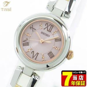 ポイント最大36倍 7年保証 SEIKO TISSE セイコー ティセ ソーラー レディース SWFA153 国内正規品腕時計 ブライダル 結納 コンビ ピンク文字版|tokeiten