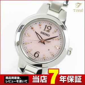 ポイント最大26倍 レビュー7年保証 セイコー ティセ 腕時計 SEIKO TISSE 電波ソーラー ソーラー 電波 時計 レディース SWFH023 国内正規品 結納 ピンク|tokeiten