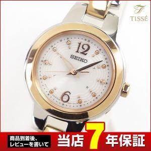 ポイント最大36倍 セイコー ティセ 腕時計 SEIKO TISSE 電波ソーラー ソーラー 電波 時計 レディース SWFH024 国内正規品 結納 シルバー ピンクゴールド|tokeiten