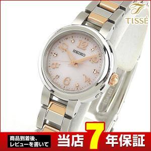 ポイント最大36倍 セイコー ティセ 腕時計 SEIKO TISSE レディース 電波ソーラー 電波 ソーラー SWFH049 国内正規品 ピンク シルバー|tokeiten
