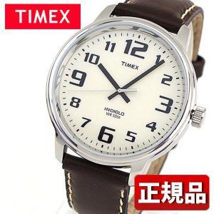 メーカー1年保証 TIMEX タイメックス TIMEX-T28201 国内正規品 ビッグイージーリーダー メンズ 腕時計 白 ホワイト 茶 ブラウン 革バンド レザー カジュアル|tokeiten