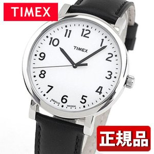 メーカー1年保証 TIMEX タイメックス TIMEX-T2N338 国内正規品 モダンイージーリーダー メンズ 腕時計 黒 ブラック 白 ホワイト 革バンド レザー カジュアル|tokeiten