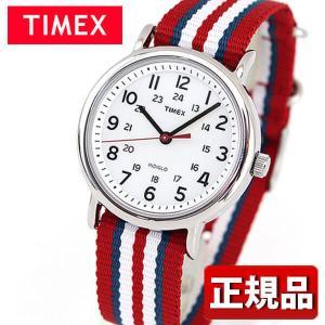 TIMEX タイメックス T2N746 国内正規品 Weekender アナログ メンズ レディース 腕時計 ユニセックス 白 ホワイト 赤 レッド ナイロン|tokeiten