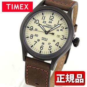 TIMEX タイメックス T49963 国内正規品 スカウトメタル アナログ メンズ レディース 腕時計 ユニセックス 黒 ブラック 茶 ブラウン 革バンド レザー|tokeiten