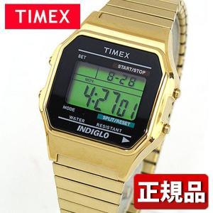 TIMEX タイメックス クロノグラフ T78677 国内正規品 Classic digital デジタル メンズ 腕時計 ウォッチ 黒 ブラック 金 ゴールド メタル バンド|tokeiten