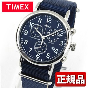 TIMEX タイメックス クロノグラフ TW2P71300 Weekender Chrono アナログ メンズ レディース 腕時計 男女兼用 ユニセックス 青 ネイビー ナイロン バンド|tokeiten