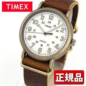 TIMEX タイメックス TW2P85700 国内正規品 Weekender 40 アナログ メンズ レディース 腕時計 男女兼用 ユニセックス 白 ホワイト 茶 ブラウン 革バンド レザー|tokeiten