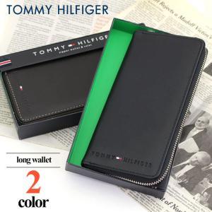 TOMMY HILFIGER トミーヒルフィガー Wellesley 31TL13X015 メンズ 長財布 ラウンドファスナー レザー 本革 海外モデル ブラック ブラウン tokeiten
