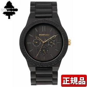 ポイント最大26倍 WEWOOD ウィーウッド 9818026 KAPPA BLACK GOLD 木製 メンズ 腕時計 ウォッチ 黒 ブラック 金 ゴールド|tokeiten