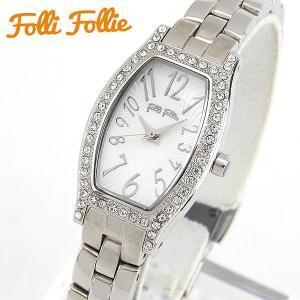 Folli Follie フォリフォリ クオーツ WF8A026BPS-XX 海外モデル アナログ レディース 腕時計 ウォッチ 白 ホワイト 銀 シルバー メタル バンド|tokeiten