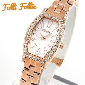 Folli Follie フォリフォリ クオーツ WF8B026BPS-XX 海外モデル アナログ レディース 腕時計 ウォッチ 白 ホワイト ピンクゴールド メタル バンド|tokeiten