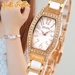 Folli Follie フォリフォリ WF8B026BPW-XX DEBUTANT デビュタント レディース 腕時計 国内正規品 ホワイト ピンクゴールド  ローズゴールド tokeiten