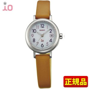 ポイント最大26倍 ORIENT オリエント io イオ レディース 腕時計 白 ホワイト 茶 ブラウン WI0051WG ソーラー|tokeiten