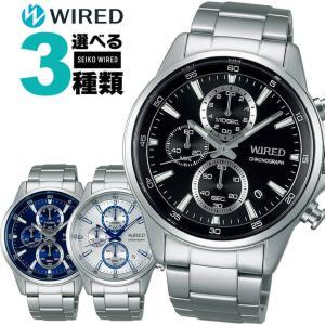 WIRED ワイアード SEIKO セイコー NEW STANDARD メンズ 腕時計 ポイント最大18倍 国内正規品 黒 ブラック 青 ブルー メタル|tokeiten
