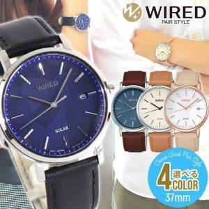 WIRED PAIR STYLE ワイアード ペアスタイル SEIKO セイコー ソーラー AGAD090 AGAD091 AGAD092 AGAD093 メンズ レディース 腕時計 国内正規品 革ベルト レザー|tokeiten