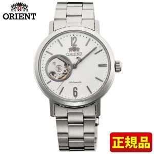 ポイント最大26倍 ORIENT オリエント STYLISH AND SMART スタイリッシュスマート セミスケルトン メンズ レディース 腕時計 白 ホワイト WV0431DB|tokeiten