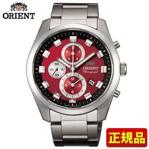ストアポイント10倍 ORIENT オリエント Neo70s ネオセブンティーズ WV0481TT 国内正規品 メンズ 腕時計 新品 時計 メタル バンド クオーツ カジュアル 赤 レッド|tokeiten
