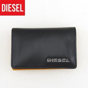 DIESEL ディーゼル X03361-PR378-H5693 海外モデル メンズ 男性用 カードケース キャメル ブラック 黒 tokeiten