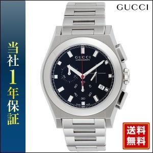 GUCCI グッチ YA115235 クロノグラフ 黒 ブラック メンズ 腕時計 時計 海外モデル|tokeiten