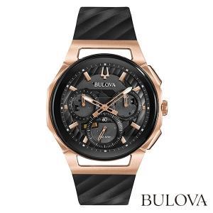 BULOVA 98A185 Curv ブローバ カーブ クオーツクロノグラフ式腕時計|tokeiya-ito