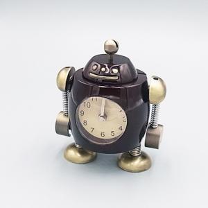 ミニチュアクロック AC3043-BR ロボット型アラーム付きクロック|tokeiya-ito