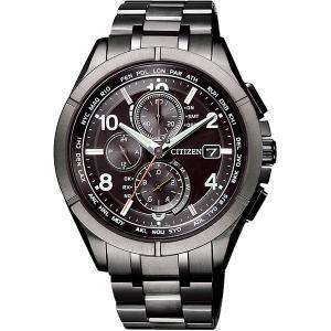 CITIZEN 腕時計 アテッサ ブラックチタンシリーズ  AT8166-59E エコドライブ電波クロノ |tokeiya-ito