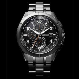 CITIZEN 腕時計 アテッサ ブラックチタンシリーズ  AT8166-59E エコドライブ電波クロノ |tokeiya-ito|02