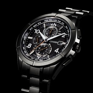 CITIZEN 腕時計 アテッサ ブラックチタンシリーズ  AT8166-59E エコドライブ電波クロノ |tokeiya-ito|03