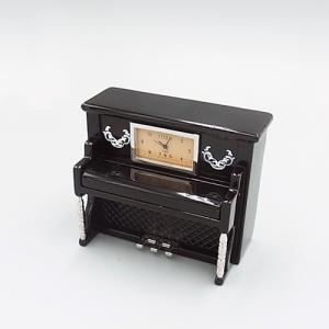ミニチュアクロック BT3335-BK ピアノ型メタル製クロック|tokeiya-ito
