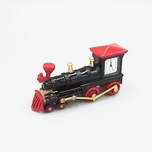 ミニチュアクロック C3176-RDBK  機関車型メタル製クロック|tokeiya-ito