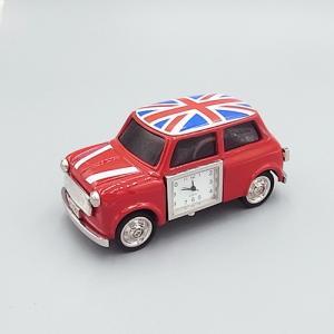 ミニチュアクロック C3267-UK ミニクーパー自動車型メタル製クロック|tokeiya-ito