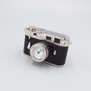 ミニチュアクロック C3348-BK アンティークカメラ型 メタル製クロック|tokeiya-ito