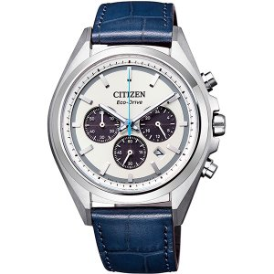 CITIZENアテッサ 電波時計 スポーティーでエレガントな革バンドCA4390-04H|tokeiya-ito