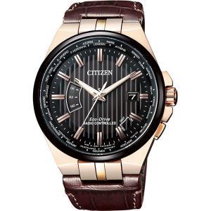 CITIZEN Collection 腕時計 ストライプパターンの文字板 CB0164-17Eエコドライブ電波 tokeiya-ito